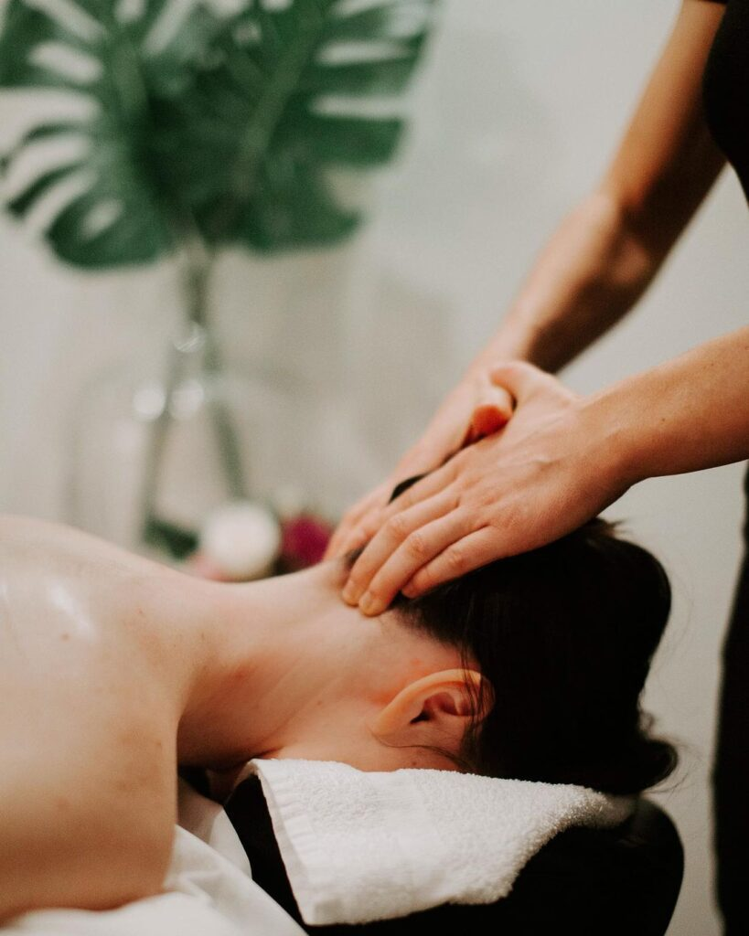 Self-care massage at the spa