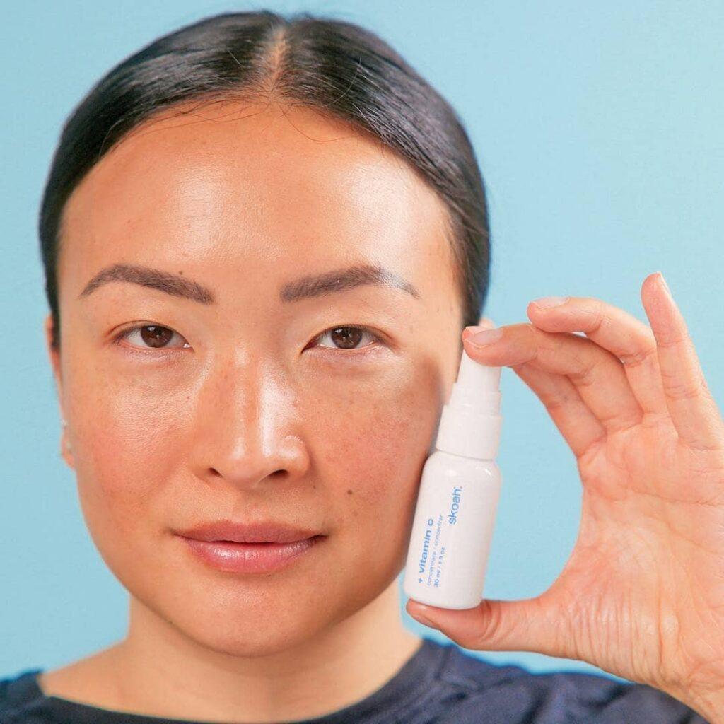 Self-care facial at the spa