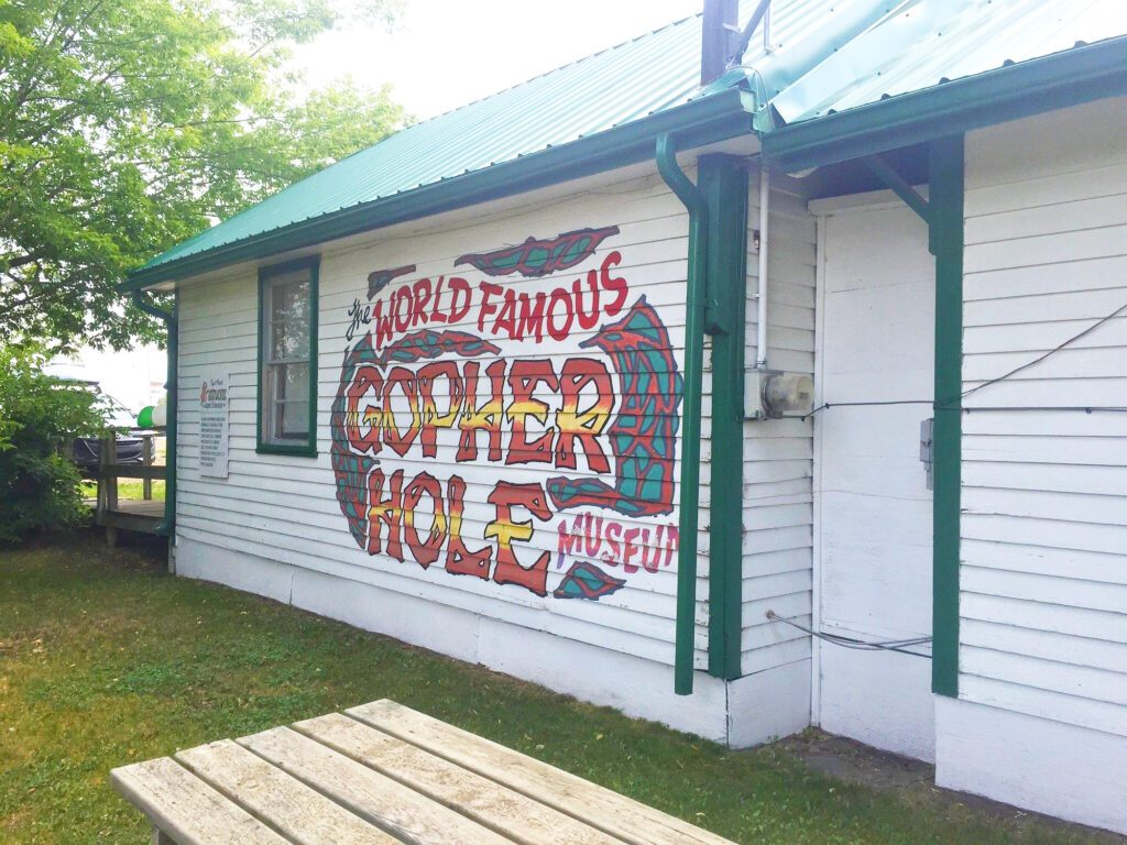 Torrington's Gopher Hole Museum - perfect location for a quirky Calgary day-trip