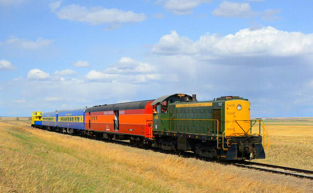 One of the many train excursions at Aspen Crossing - a fun destination for a Calgary day trip
