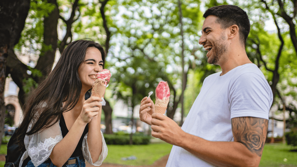An ice cream and a walk at one of YYC's favourite ice cream spots is a perfect casual first date.