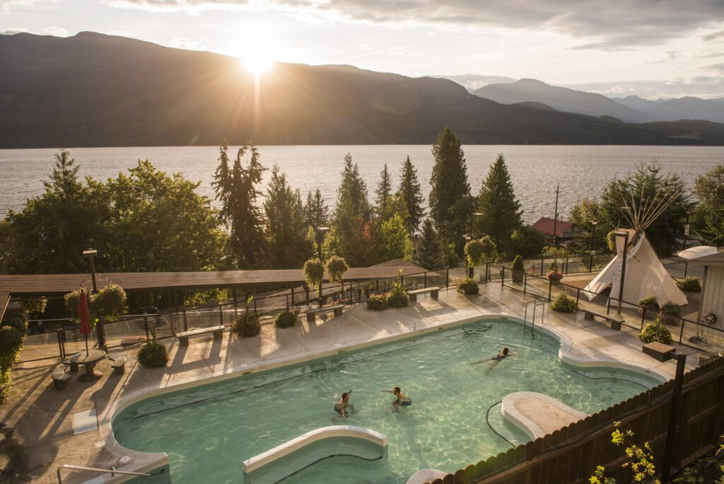Ainsworth Hot Springs is a great stop in Nelson the perfect road-trip