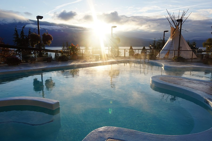 Ainsworth Hot Springs is one of bc's best natural hot springs and the perfect road trip stop to watch the sunset