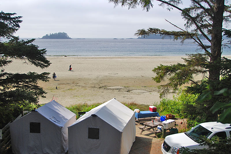 Waking up on the beach makes this green point campground possibly THE most romantic BC campground for a weekend getaway
