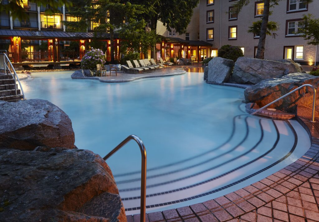 Harrison Hot Springs is soothing and romantic and enjoyed by the guests of the Harrison Resort