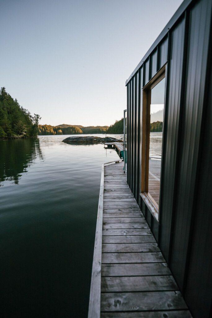 lagoon float camp Tofino British Columbia