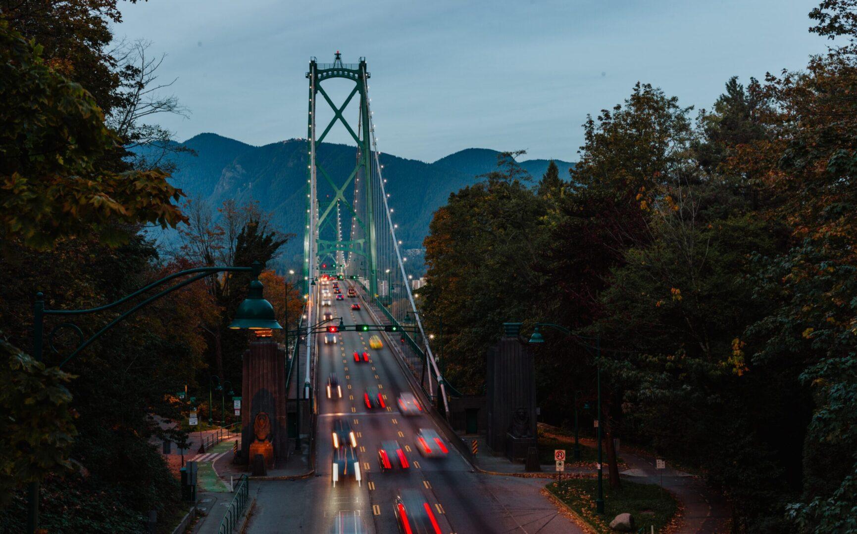 Vancouver Landscape of the lions gate bridge