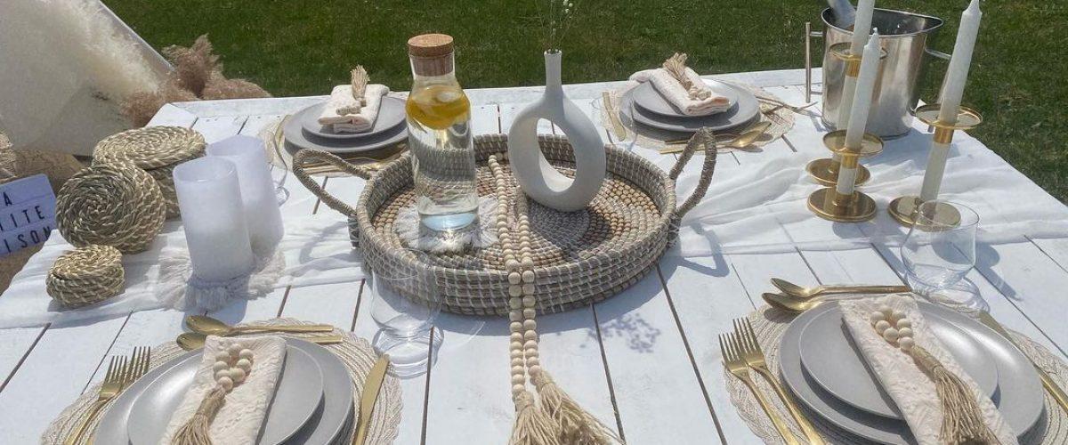 picnic set up by la petite maison